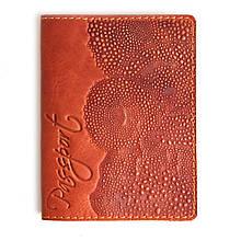"""Обложка на паспорт кожаная """"Scale"""" (Guk)"""
