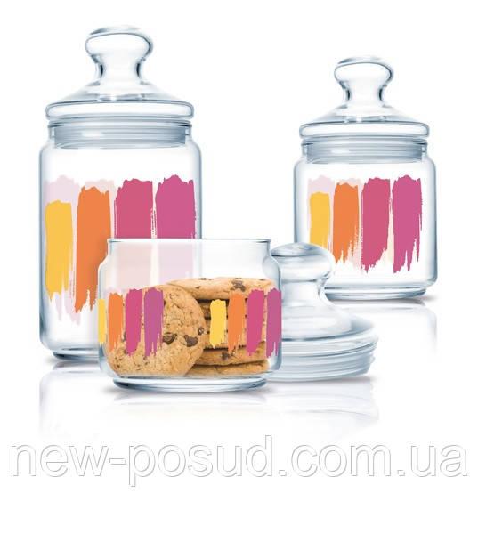Набор банок для хранения продуктов Luminarc Paint Brush 3 шт (P2322)