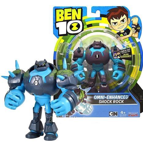 Бен Тен 10, фигурка Шок Рок омни-усиленный 12,5см, Ben 10 Shockrock Action Figure, Оригинал из США