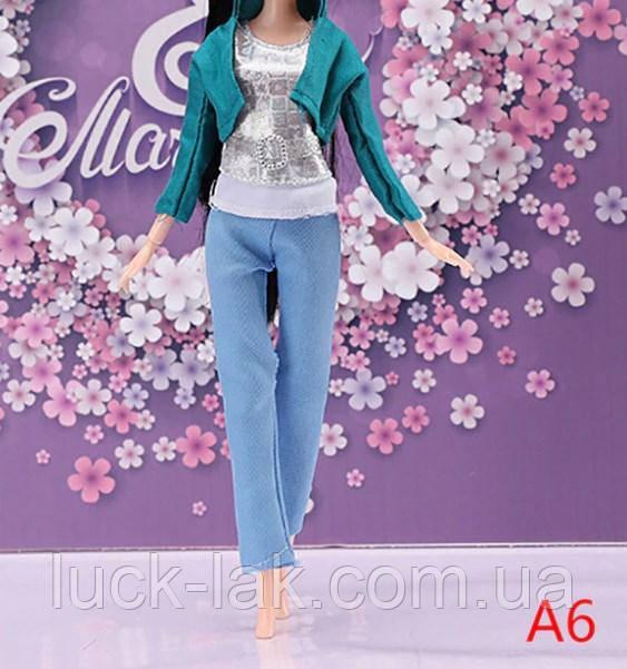 Кукольный костюм штаны, майка и пиджак для куклы Барби