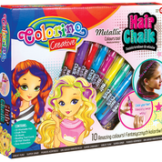 """Подарочный набор для декора волос """"Металлик"""" 10 цветов, Colorino"""