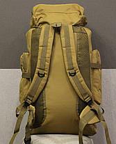 Тактический (туристический) рюкзак на 70 литров Coyote , фото 3