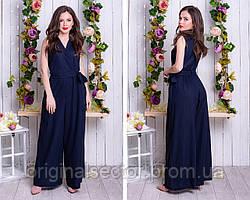 Женский летний комбинезон с широкими штанами