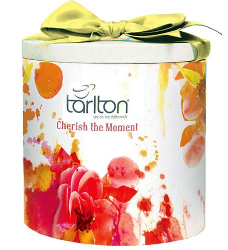 Подарок к празднику   Чай Тарлтон Cherish the Moment черный листовой 100 г в жестяной банке