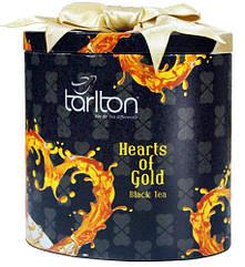 Подарунок на 14 лютого   Чай чорний листовий Тарлтон Золоте серце 100 г у жерстяній банці