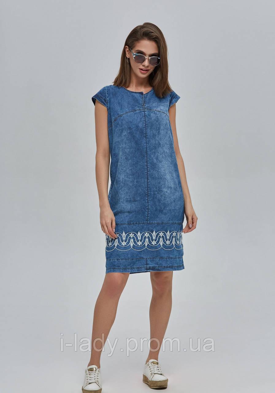 fd5a95644cd4f18 Платье джинсовое летнее с вышивкой - Интернет магазин женской одежды,  купальников и белья fainapanna.
