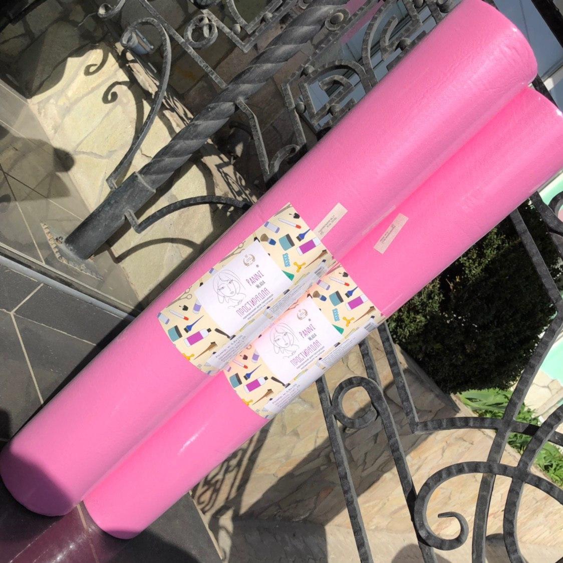 Простыни Panni Mlada одноразовые в рулоне (розовый) 0,8*100м