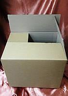 Высокая картонная коробка ящик 4х клапанный 700*390*200