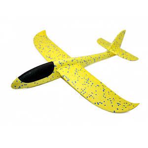 Детский метательный планирующий самолетик Mini 37 см желтый 149824