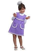 Сарафан детский для девочки вельвет х/б М -1075 рост 104 110 116 и 122