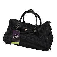 Дорожные сумки на колесах, дорожная сумка, цвет - черный, сумка на колесах