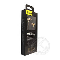 Наушники MP3 Inkax Metal E-58 gold (с микрофоном)