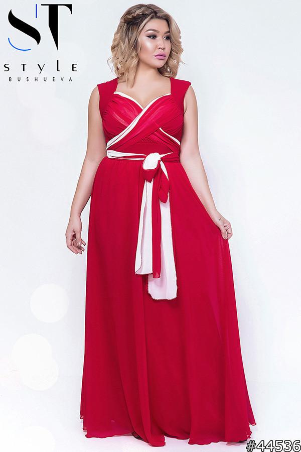 Шифоновое вечернее платье (р.48-51)
