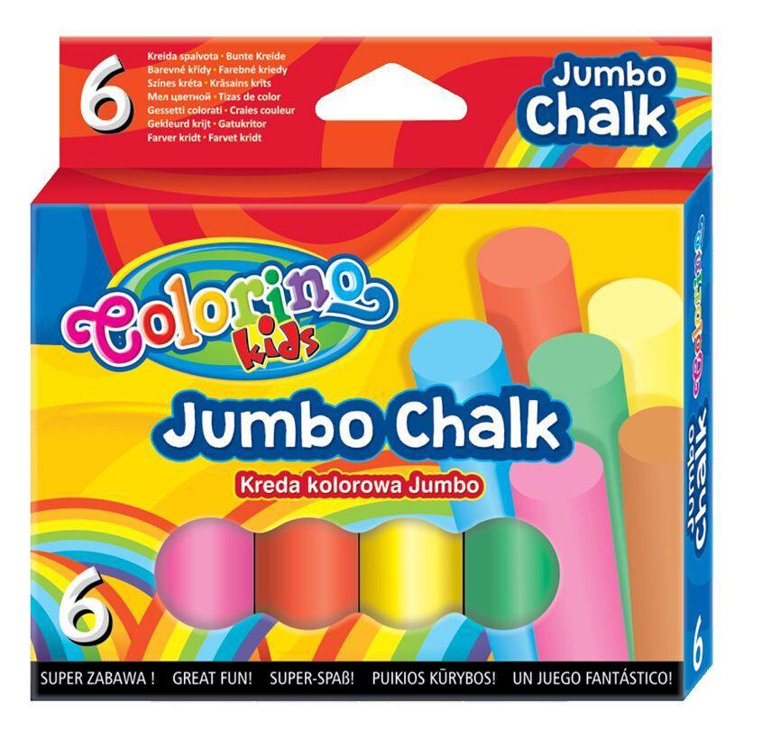 Мелки цветные 6 цветов, Colorino Jumbo