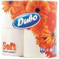 Туалетная бумага Чудо белая двухслойная 4шт