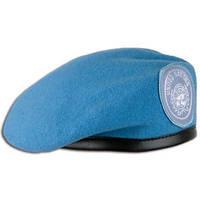 Берет армейский шерстяной  голубой  ООН  Германия 55