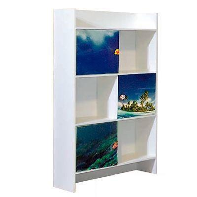 Шкаф книжный  Мульти Дельфины