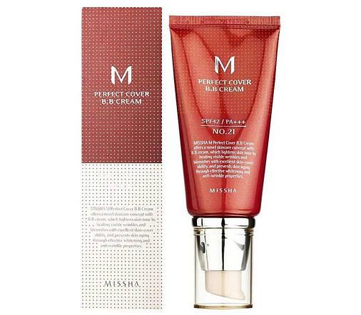 ВВ крем Missha M Perfect Cover BB Cream SPF42/PA+++ No21/Light Beige(50ml), оригинал, фото 2