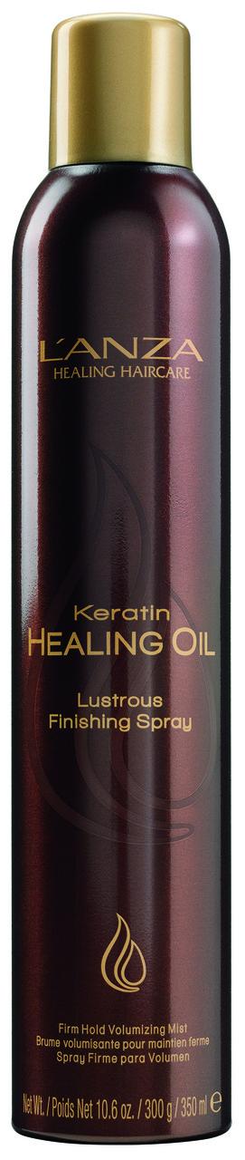 KERATIN HEALING OIL LUSTROUS FINISHING SPRAY ЛАК-СПРЕЙ С КЕРАТИНОВЫМ ЭЛИКСИРОМ pH: 6.0, 350 мл - L'ANZA