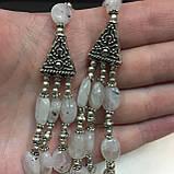 Колье лунный камень в серебре. Шикарное ожерелье с природным лунным камнем Индия, фото 4