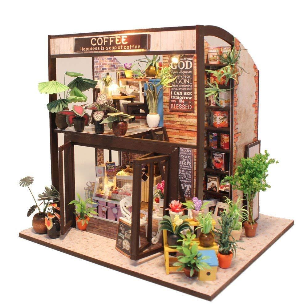 """3D Румбокс """"Кав'ярня"""" - Ляльковий Дім Конструктор / DIY Coffee Doll House від CuteBee"""