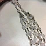 Колье лунный камень в серебре. Шикарное ожерелье с природным лунным камнем Индия, фото 2