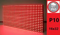 Дисплей LED модуль P10 16х32 IP65 КРАСНЫЙ DIP для изготовления бегущих строк, фото 1