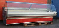 Холодильная витрина среднетемпературная «Arneg» линия 3.2 м. (Италия), широкая выкладка 75 см. Б/у