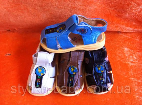 Детские пинетки-босоножки ТМ. Bluerama для мальчиков (пищят) (14-18), фото 2