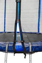 Батут Atleto 312 см с двойными ногами с сеткой синий, фото 3