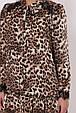 Модное платье с длинным рукавом Лея леопард (50-56), фото 5