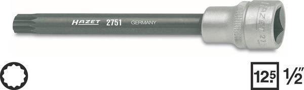 Головка с насадкой Hazet 2751 для резьбовых соединений головок блока цилиндров и карданного вала