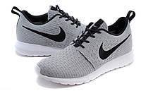 Женские кроссовки Nike Roshe Run Flyknit grey