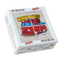 Кубики cложи рисунок транспорт