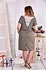 Прямое стройнящее платье 0560-1 большой размер, фото 4