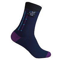 Термоноски DexShell Waterproof Ultra Flex Socks (M)носки водонепроницаемые (черно-фиолетовые)