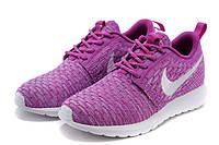 Женские кроссовки Nike Roshe Run Flyknit violet, фото 1