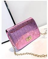 Лаковая маленькая сумочка розовый, Лакова маленька сумочка рожевий