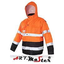Куртка зимняя светоотражающая Kurtka FLASH Short-B Orange оранжевого цвета ARTMAS