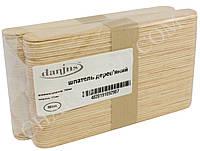 Шпатели деревянные для депиляции и шугаринга одноразовые Danjns 100шт.