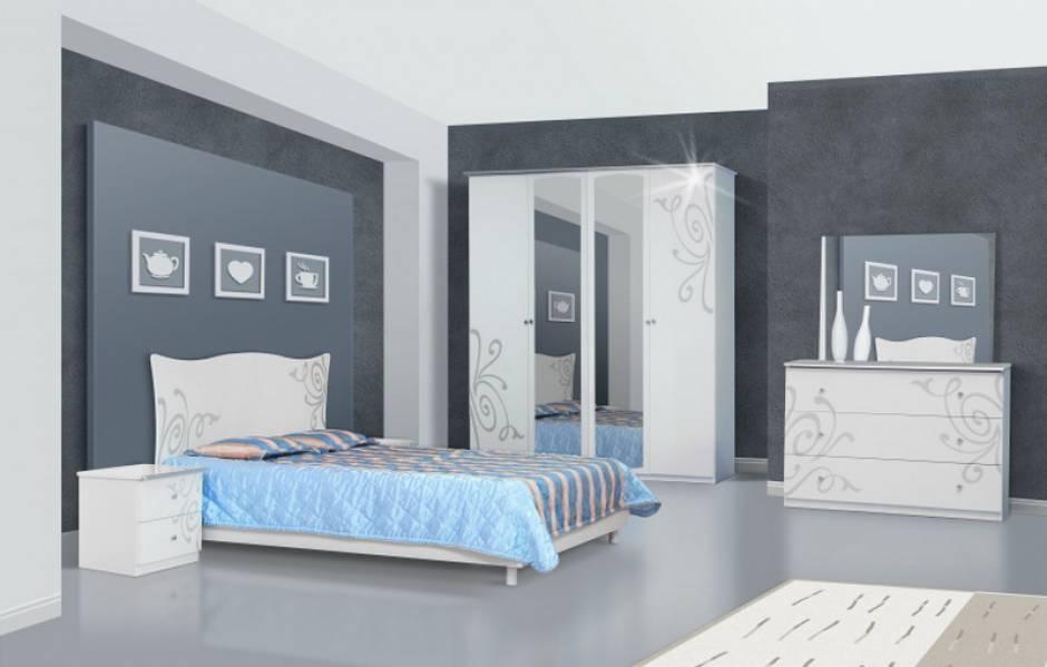 Спальня Фелиция Новая 4Д (белый)