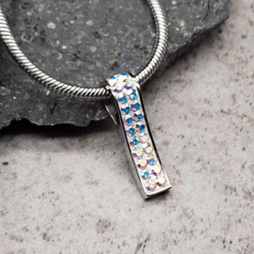 Кулон Swarovski женский с мультицветными кристаллами 2,5 см 102822