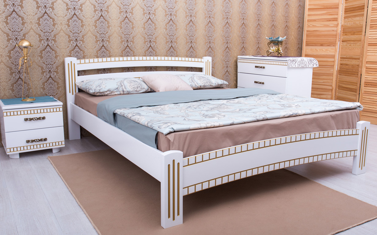 Кровать Милана Люкс с фрезеровкой (Пальмира)
