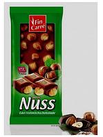 Шоколад молочный Nut Fin Carre с цельным лесным орехом Германия 100 г