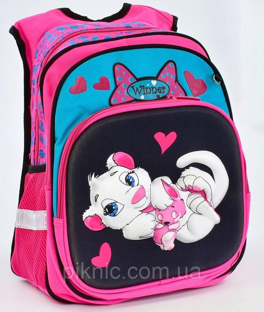 4c244d89fff3 Школьный рюкзак Собачка 3d для девочек 1, 2, 3, 4 класс. Портфель ранец  ортопедический для школы