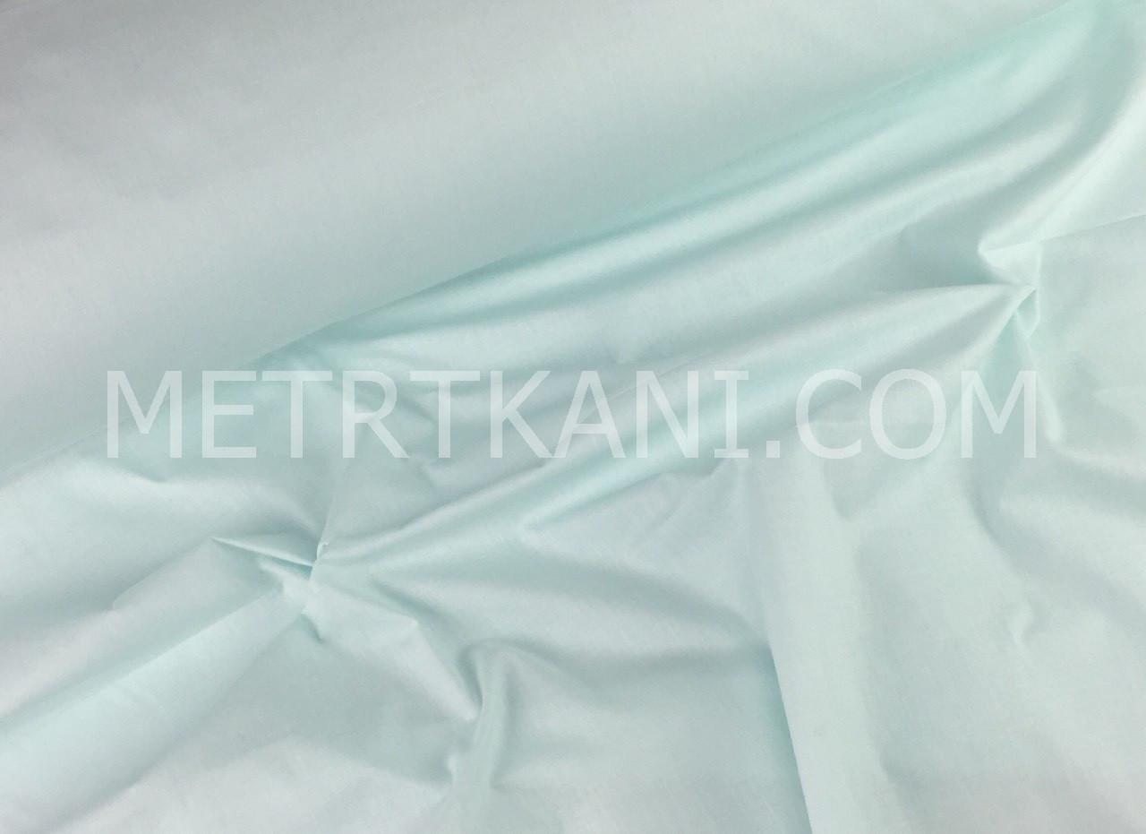 Однотонная польская бязь светло-мятного цвета 135 г/м2  №370