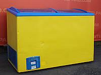 """Морозильний лар """"CRYSTAL"""" (Греція) корисний об'єм 360 к., Гнуте скло, Б/в, фото 1"""