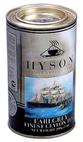 Чай черный среднелистовой Hyson Earl Grey с бергамотом 200 г в жестяной банке