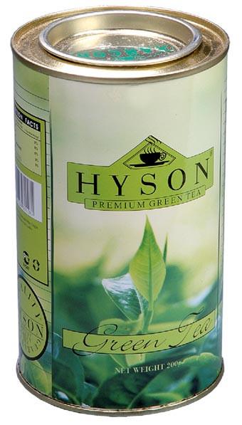 Чай зелений середньолистовий Hyson Green Tea 200 г в жерстяній банці