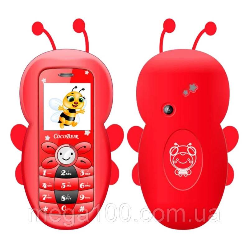 Мобильный телефон пчёлка, силиконовый чехол снимается